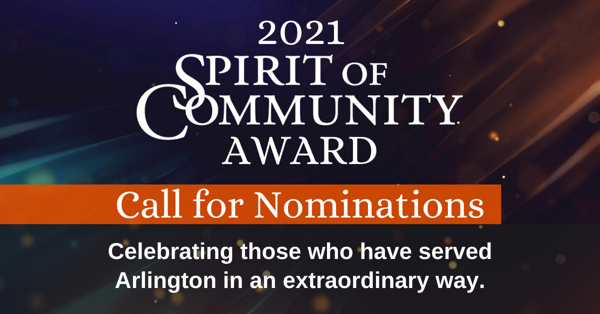 Spirit of Community Award Call for Nominations